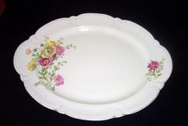 "Vintage 15 1/2"" Taylor Smith & Taylor Floral Platter~Pattern #TST12372 - $5.93"