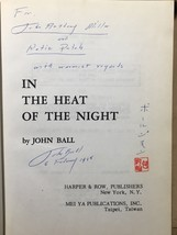 IN THE HEAT OF THE NIGHT - John Ball Inscribed First Taiwan Ed. Virgil T... - $980.00