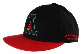 Asphalt Yacht Club Noir Rouge Icon A Baseball Snapback Hat Skate Stevie Williams