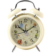 George Jimmy Simple Alarm Clock Metal Wake Up Alarm Clocks with Night-Li... - $19.21
