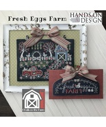 Fresh Eggs Farm #1 Chalk On The Farm Series cross stitch Hands On Design  - $10.80
