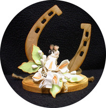 "Country Western ""Luck of the Horse shoe"" Wedding Cake topper funny Barn ... - $33.56"