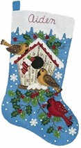Bucilla - 'Christmas Birds' -  Christmas Felt Stocking Stitchery Kit -86... - $34.99