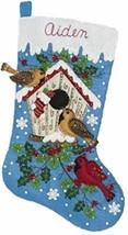 Bucilla - 'Christmas Birds' -  Christmas Felt Stocking Stitchery Kit -86... - $34.99