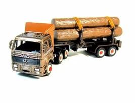 MERCEDES-BENZ TRUCK, METALLIC BROWN WELLY DIECAST CAR/TRUCK COLLECTOR'S ... - $34.90