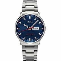 Mido M0214311104100 Commander Mens Watch - Blue Dial Stainless Steel Case  - $1,144.60