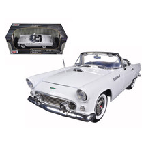 1956 Ford Thunderbird Convertible White 1/18 Diecast Model Car by Motorm... - $61.11
