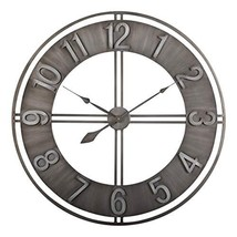 "Studio Designs Home 30"" Industrial LOFT Metal Decor Wall Clock Brushed - $99.55"