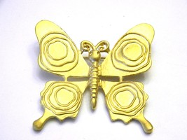 Vintage Gold Tone Butterfly Pin Brooch Figural - $17.99