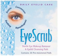 Eye Scrub Sterile Eye Makeup Remover & Eyelid Cleansing Pads 30 ea Pack of 3