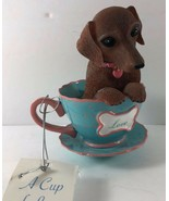 Dachshunds With Personali Tea Collection Numbered Cup LOVE Figurine - $19.79