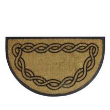 TizTheSeasons Rubber and Coir Swirl Pattern Outdoor Door Mat  - $28.49