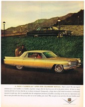 Vintage 1963 Magazine Ad Cadillac A New Cadillac & Its Closest Rival Vintage One - $5.93