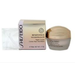 Shiseido Benefiance Wrinkle Resist 24 Night Cream ANTI-RIDES 50ML NIB-SH10309 - $68.80