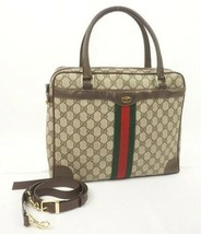 Auth OLD Gucci Accessory Collection Vintage GG Sherry line Shoulder Bag ... - $578.16