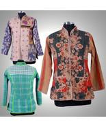 10 Vintage kantha Short Jacket Reversible Gudri Rally Coat Sherwani JK5 - $213.75