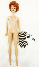 Barbie doll vintage 1961 bubbble cut titian with swimsuit heels sunglasses - $98.95