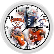 SPECIAL! UVA CAVALIERS FOOTBALL, 8in. Unique Homemade Wall Clock, Batter... - $18.99