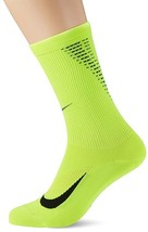 Nike Dri-Fit Elite Lightweight Reflectivity Crew Running Socks-Volt - $24.99
