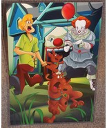 It Pennywise vs Scooby Doo Glossy Art Print 11 x 17 In Hard Plastic Sleeve - $24.99