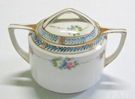 Antique Nippon Sugar Bowl Some Wear to Gold Trim - $6.95