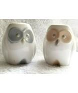 Pair of Owl Salt & Pepper Shakers Porcelain Vintage Japan - $12.95