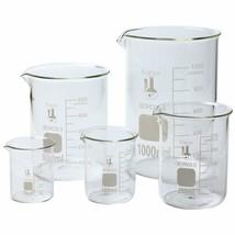 Karter Scientific 213A2 Borosilicate Glass Low Form Glass Beaker, 50/100... - $17.55
