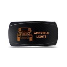 Rocker Switch Jeep JK Windshield Lights Symbol - Horizontal - Amber LED - $16.44