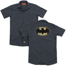 Batman - Distressed Shield (Back Print) Adult Work Shirt - $44.99+