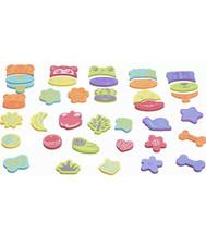Crayola Bath Toys 36 Pieces Foam Animals Mix & Match Cling to Tub Wall - $7.71