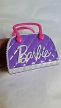 Barbie 2017 purple kids Toy Bag play Handbag pre-owned hard plastic cute... - $11.61