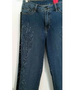 VERY VERA Wang Sz 2  Rhinestone Studded Blue Jeans Black Tattoo Tuxedo W... - $21.78
