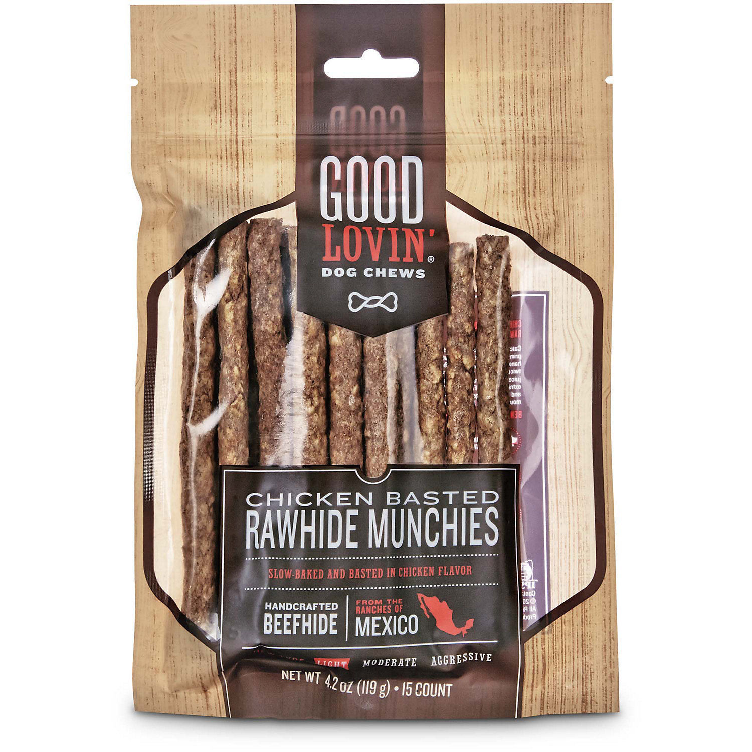 Good Lovin' Chicken Basted Rawhide Munchie Dog Chews (15 CT)