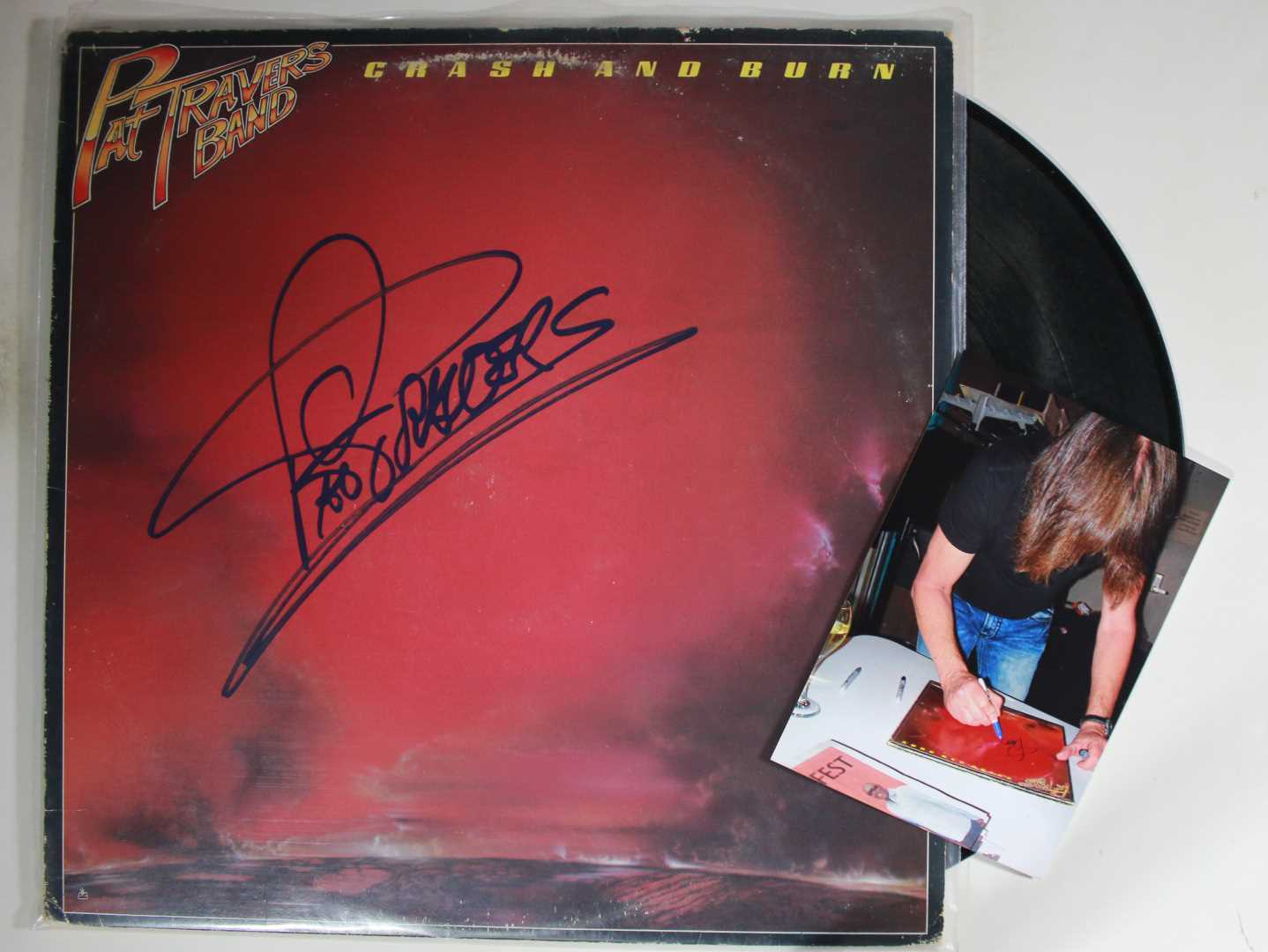 Primary image for Pat Travers Signed Autographed Record Album w/ Signing Photo