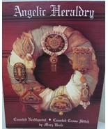 Mary Beale ANGELIC HERALDRY 7 Cross Stitch Charts Leaflet OOP Needlepoint - $12.99