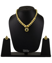 Womens Trendz Alter Net  Tarbuj  Mani Haar 24K Gold Plated Alloy Necklace and Ea - $39.00