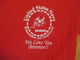 United States Navy Seabees Remember all deployed T Shirt Size M - $1.99