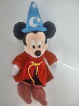 "DISNEYLAND 12"" Plush Mickey Mouse in -Sorcerer-Wizard FANTASIA - $19.79"