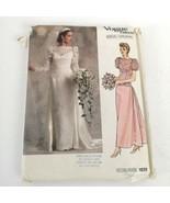 Vogue Pattern 1829 Wedding Dress Bridal Original Sz 10 Uncut Vintage 80s - $16.99