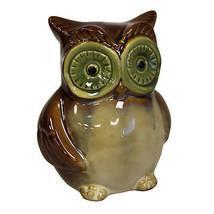 Ceramic Owl Bank - Brown Collectable Money Bank Home Decor Accessory Gif... - $18.54