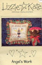 Angel's Work Is Never Done Lizzie Kate Cross Stitch Pattern Leaflet NEW - $2.67