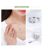 BISAER 925 Sterling Silver Jewelry Sets Love Infinite Forever Infinity F... - $29.42