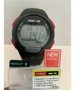 Timex TW5M16400 Men's Ironman Essential 10 Black/Red Resin Strap Watch New  - $28.50