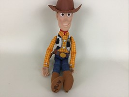 "Disney Pixar Toy Story 4 Sheriff Woody Soft & Huggable 15"" Talking Plush... - $29.65"
