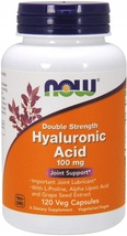 NOW Supplements, Hyaluronic Acid, Double Strength 100 mg, with L-Proline... - $64.80