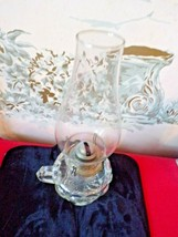 "Vintage Clear Finger Oil Lamp with globe 11"" tall-No wick - $19.80"