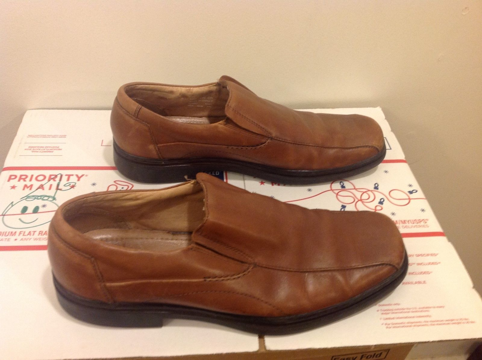 Bostonian Men's Light Brown Leather Shoes Sz 13M