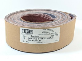 """2.5""""x 108.5"""" P120 grit Quality SANDPAPER Belts 10 Count with Cloth Backi... - $15.00"""