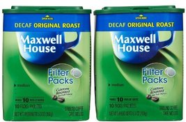 Maxwell House Filter pk Roast Ground, Decaf., 10 ct, 5.3 OZ, 2 pk - $24.00