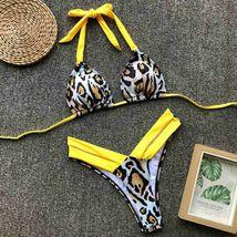 Sexy Women Print Bikini Set PushUp Pad Swimwear Swimsuit Ethnic Wind Color image 9